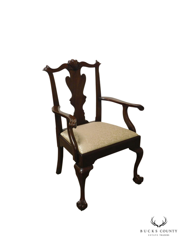 Henkel Harris Chippendale Style Mahogany Ball and Claw Armchair (102 A)