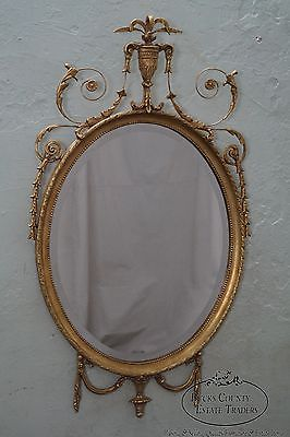Friedman Brothers Gold Gilt Adams Style Beveled Wall Mirror