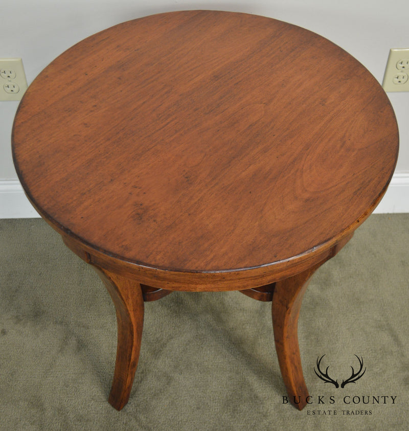French Country Style Round Side Table Possibly Guy Chaddock
