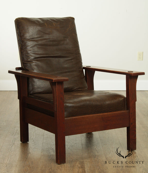 J. M. Young Antique Mission Oak Morris Chair