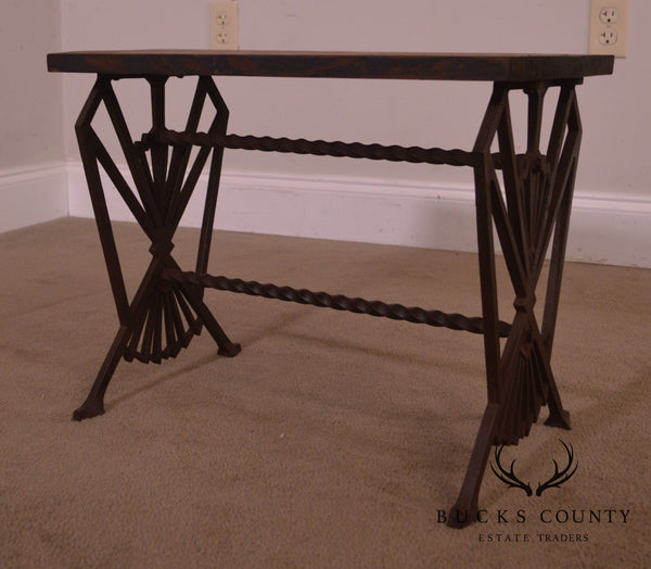 Art Deco Antique Iron Low Table or Bench