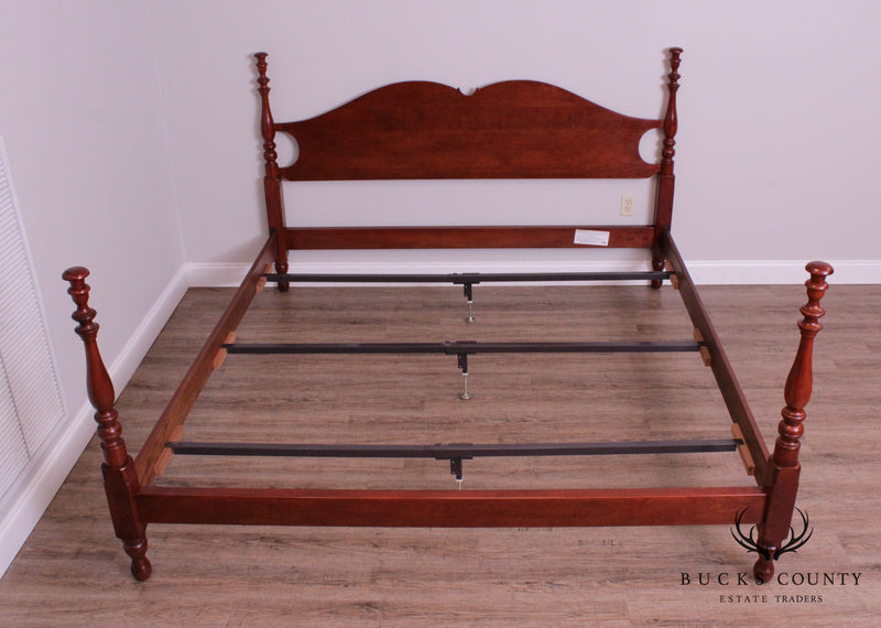 Stickley Traditional Cherry King Size Poster Bed
