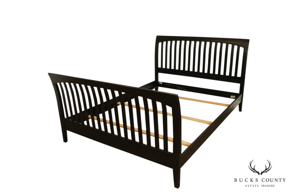 Ethan Allen American Impressions Queen Size Black Sleigh Bed