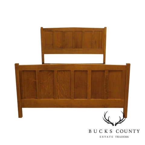 Stickley Mission Collection Oak Queen Size Panel Bed
