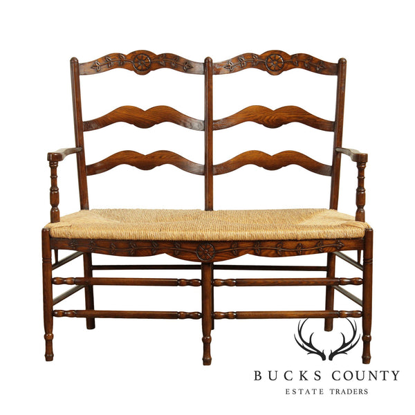 French Market Collection, French Country Style Rush Seat Settee