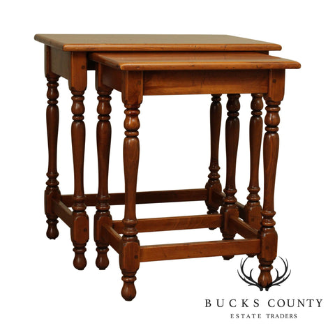 Ethan Allen Country Craftsman Pine Nesting Tables