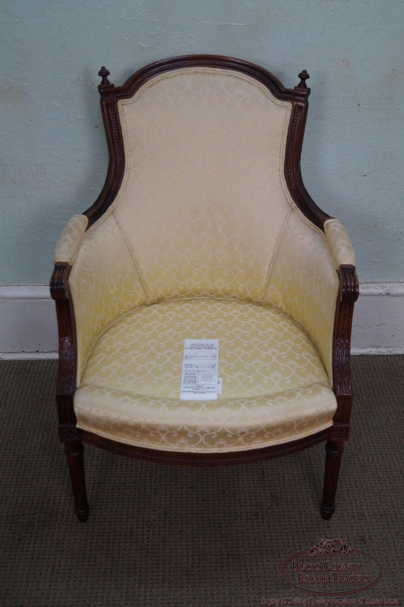Quality French Louis XVI Style Bergere Chair by Century