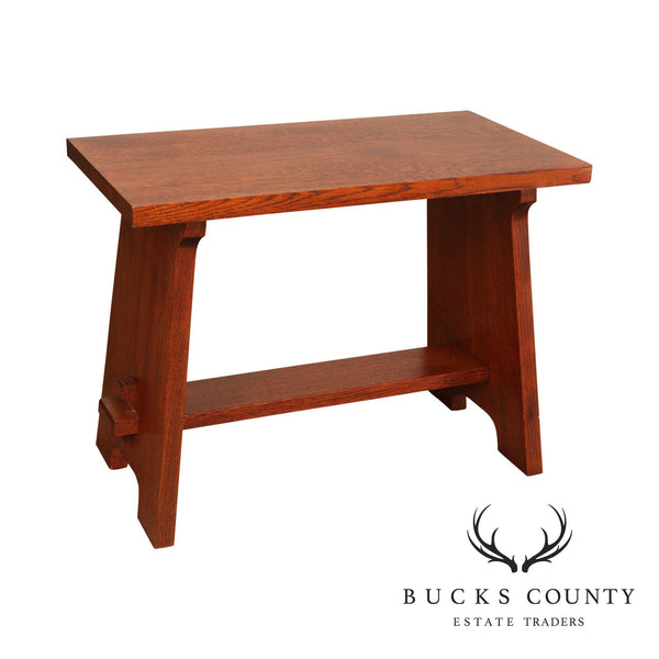 "Stickley Mission Collection Oak ""Gustav Stickley Fireside Stool"""