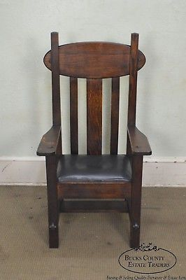 Arts & Crafts Mission Style Antique Arm Chair