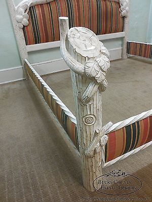 Quality Shabby Painted Rustic Adirondack Faux Branch King Size
