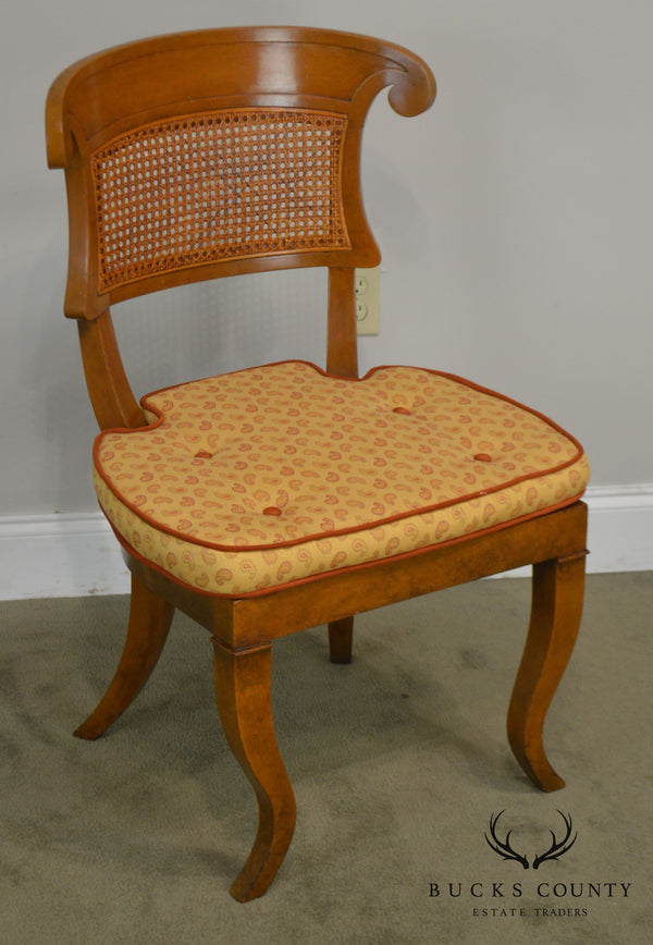 Biedermeier Style Vintage Custom Quality Cane Back Desk or Side Chair