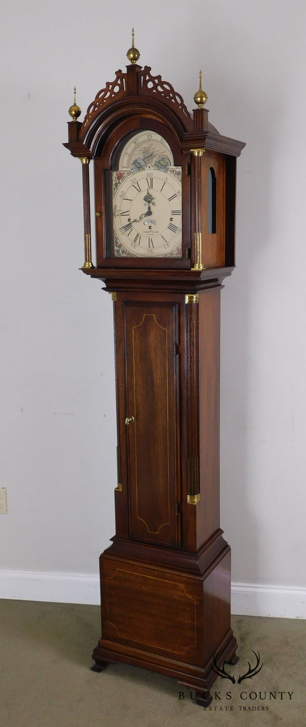 Sligh Aaron Willard Federal Mahogany Grandfather Clock