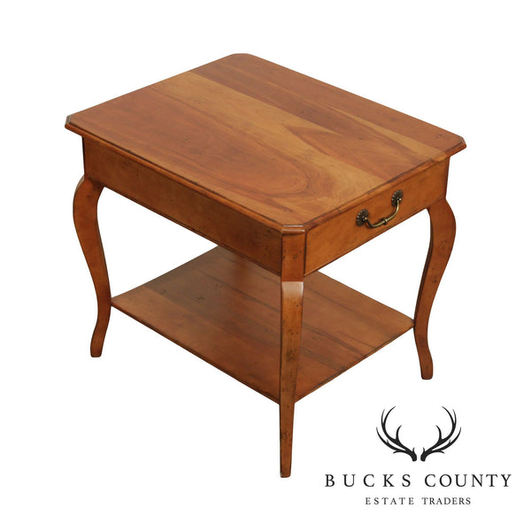 Superior Furniture French Country Style Cherry One Drawer Side Table