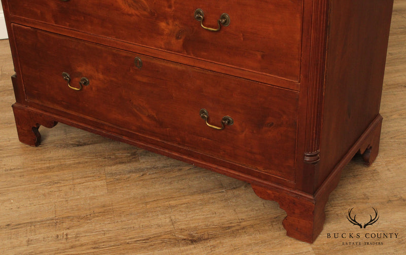Antique 18th Century American Cherry Chippendale Tall Chest