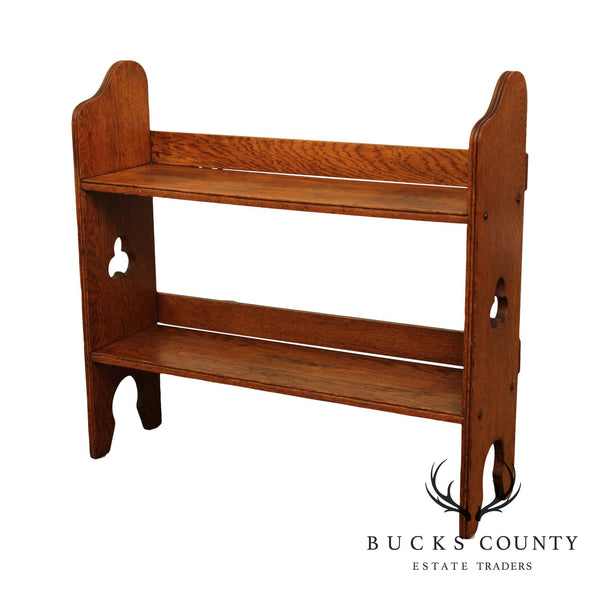 Antique Oak Arts & Crafts Book Stand