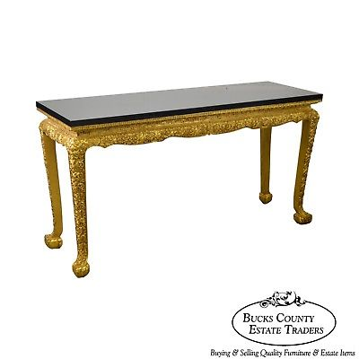 Georgian Style Carved Gilt Console Table by Manheim Weitz
