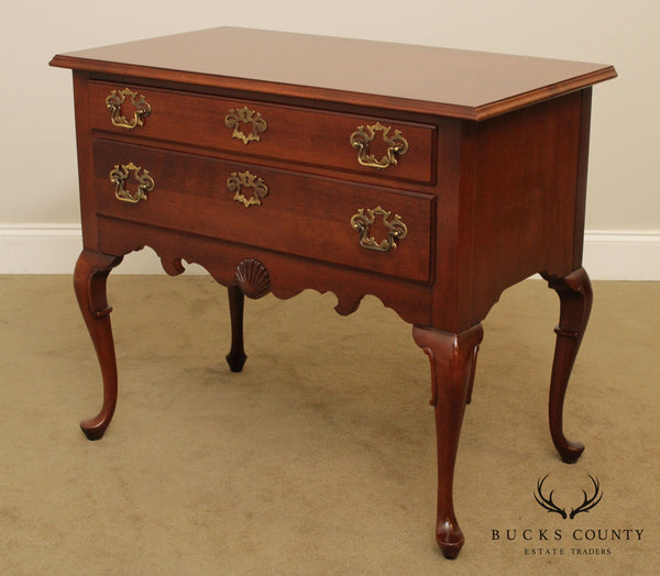 Hickory Chair Mahogany Queen Anne Style Lowboy
