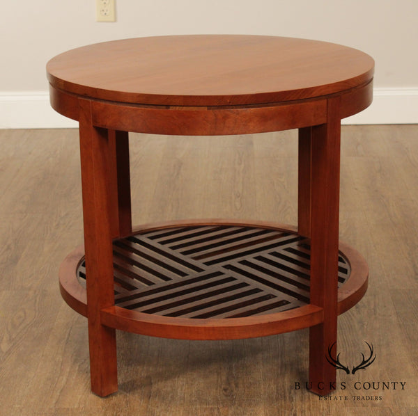Stickley Metropolitan Cherry Round Lamp Table