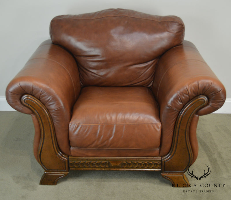 Divani Chateau D Ax.Divani Chateau D Ax Italian Brown Leather Lounge Chair Bucks