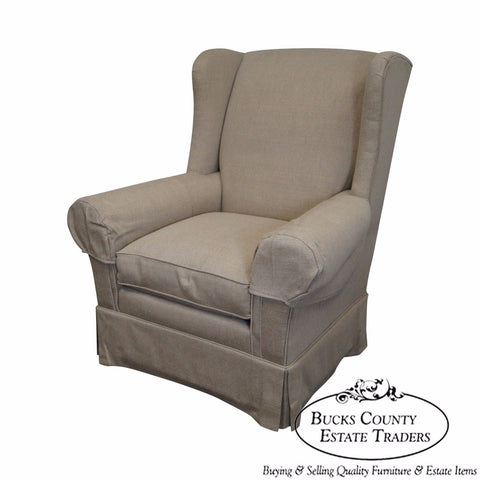 Lexington Quality Tan Upholstered Living Room Lounge Chair