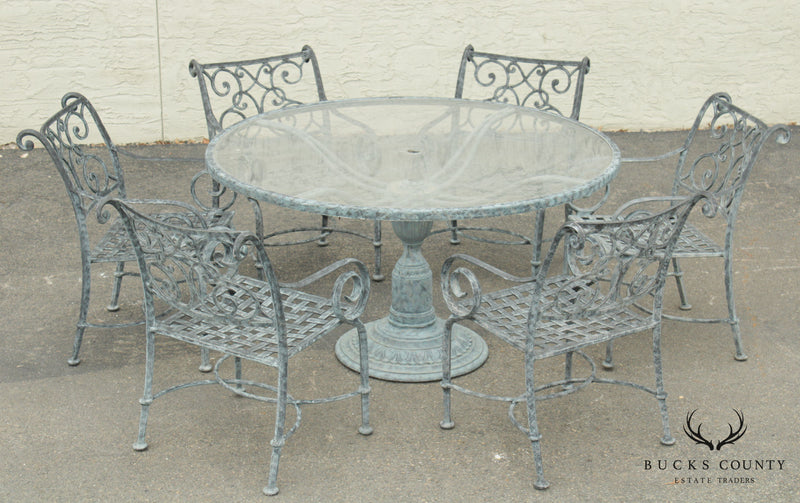 Cast Classics Landgrave Round Patio Dining Table, 6 Chairs
