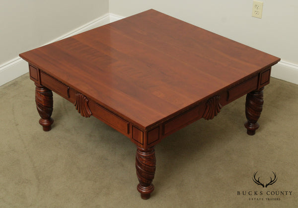 Harden British Colonial Style Square Cherry Coffee, Coctail Table