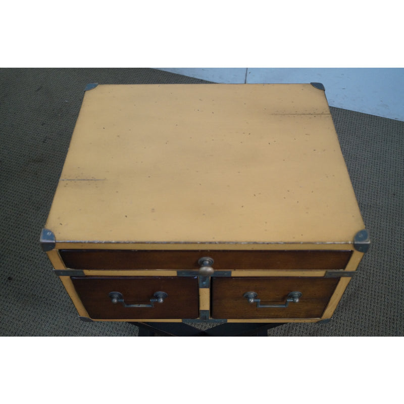 Authentic Models Campaign Style Chest on Frame Sided Table
