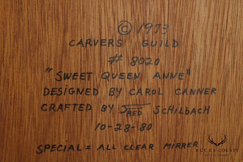 "Carvers Guild ""Sweet Queen Anne"" Leaded Glass Mirror by Carol Canner"