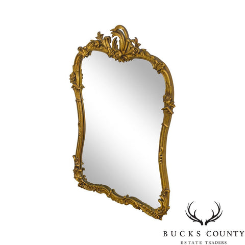 French Louis XV Style Vintage Gilt Carved Mirror