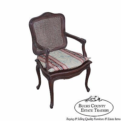 Quality French Louis XV Style Cane Back Arm Chair