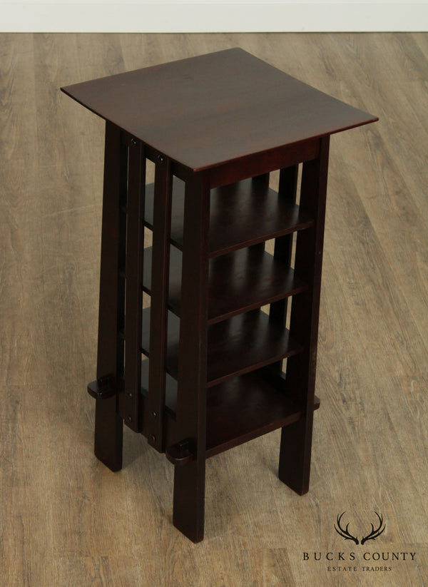 Michigan Chair Company Antique Arts & Crafts Mahogany Magazine Stand Bookcase