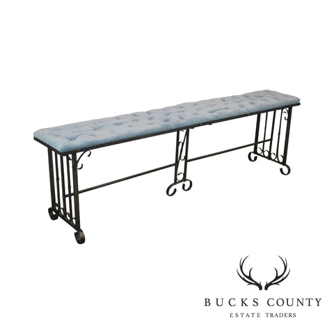 Hand Forged Iron Long Bench
