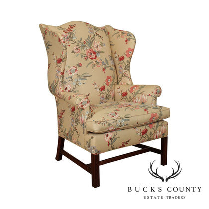Southwood Chippendale Style Mahogany Wing Chair