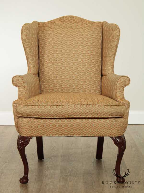 Southwood Mahogany Queen Anne Style Wing Chair