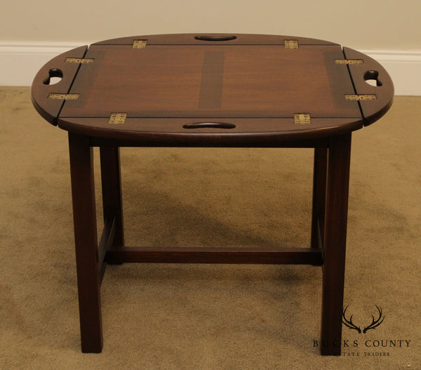 Chippendale Style Quality Mahogany Butlers Coffee Table