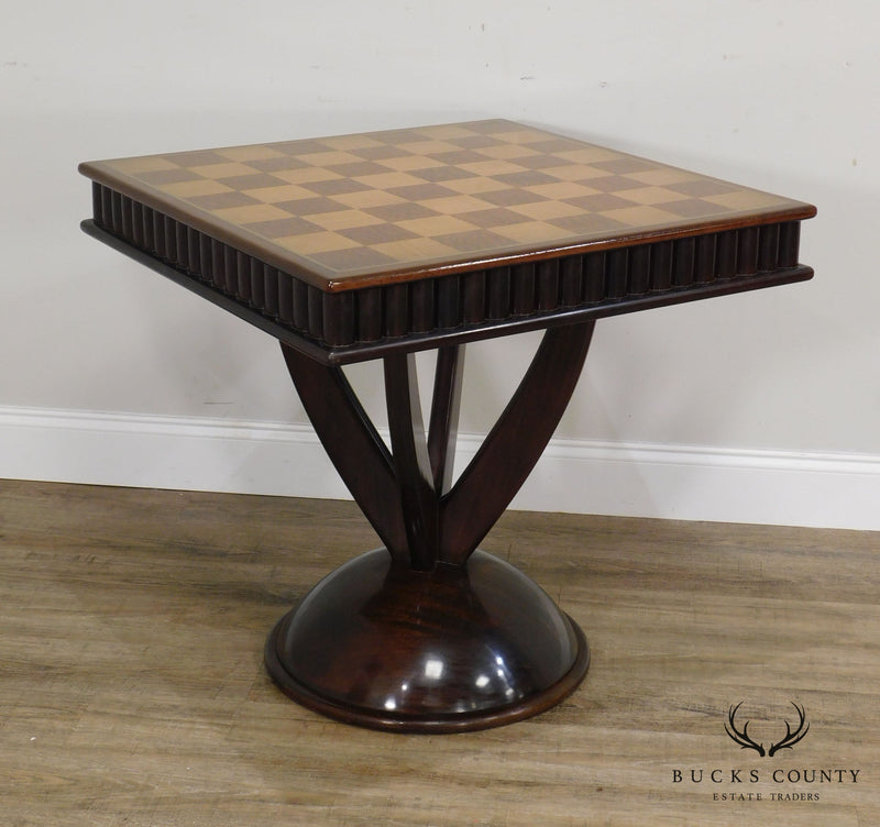 Art Deco Style Vintage Custom Quality Chess Board Game Table