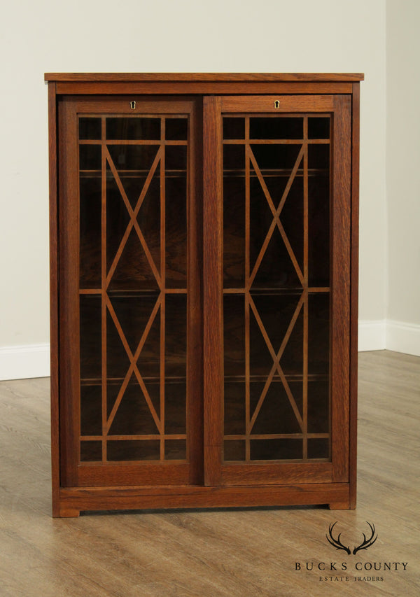 Antique Arts and Crafts Oak Bookcase