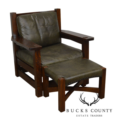 Stickley Mission Collection Eastwood Chair with Ottoman
