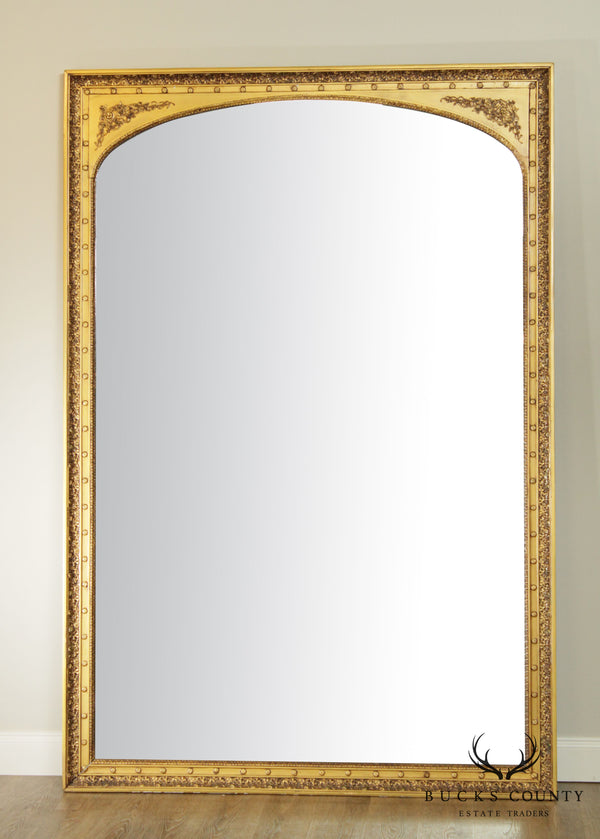 Antique French 19th Century Monumental Louis XVI Style Gilt Mirror (B)