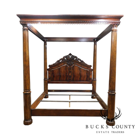 Henredon Historic Natchez Collection Mahogany Monumental King Poster Canopy Bed