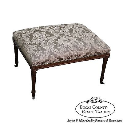 Antique French Louis XVI Style Ottoman Bench