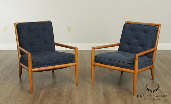 T. H. Robsjohn Gibbings for Widdicomb Mid Century Modern Pair Lounge Chairs