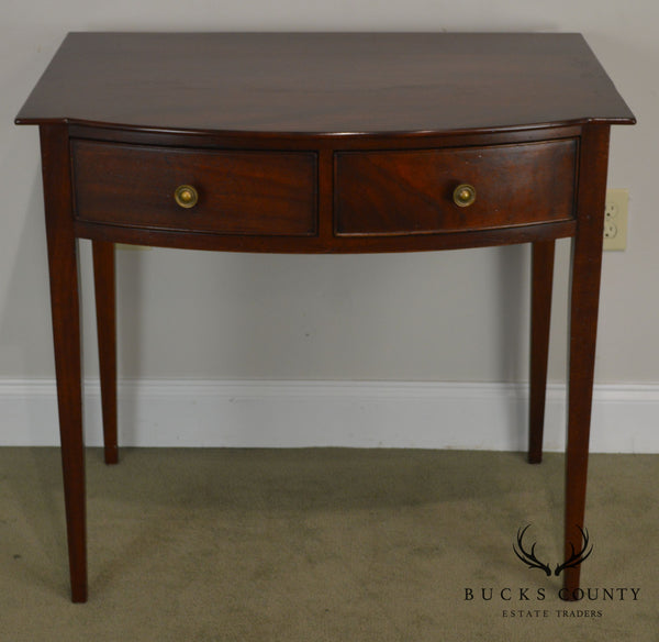 Wright Table Company Hepplewhite Style Mahogany 2 Drawer Console Table