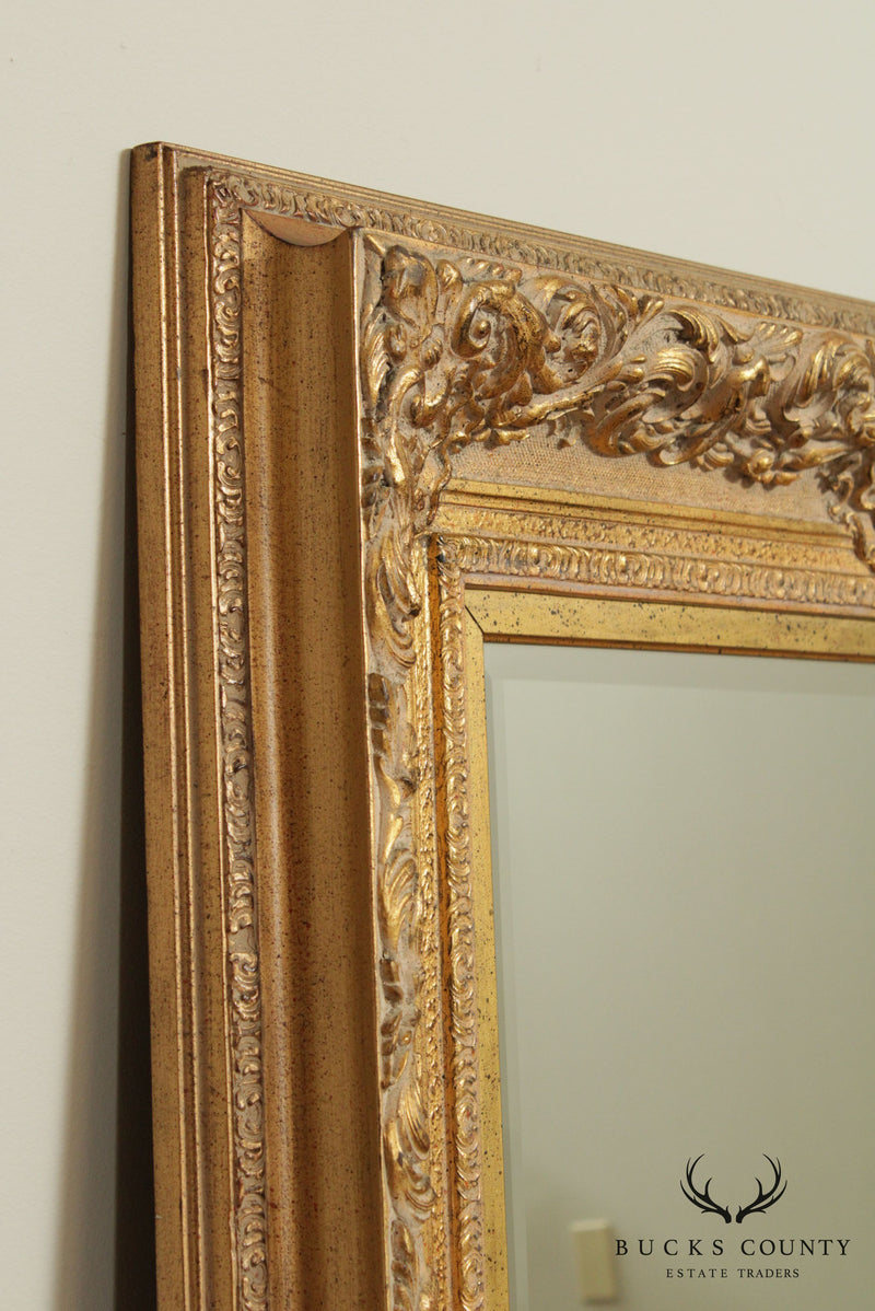 Queens Court Gold Frame Beveled Wall Mirror