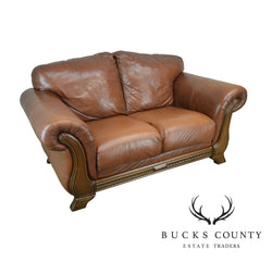 Divani Chateau D Ax.Divani Chateau D Ax Italian Brown Leather Loveseat Bucks County