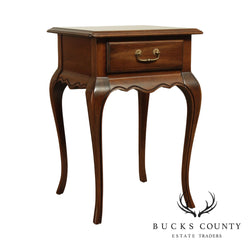 Ethan Allen Country French Style One Drawer Nightstand Side Table