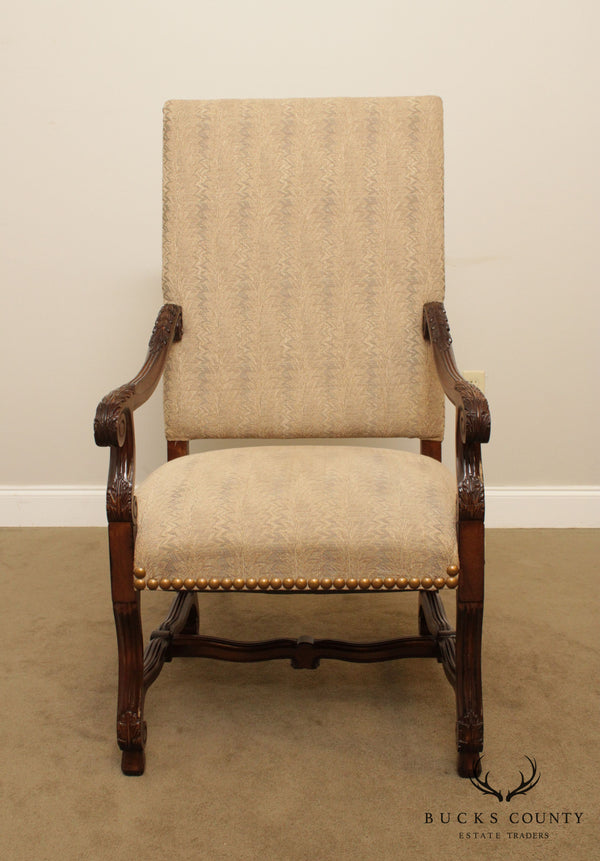Meyer Gunther Martini M.G.M. Furniture French Louis XIII Style Armchair
