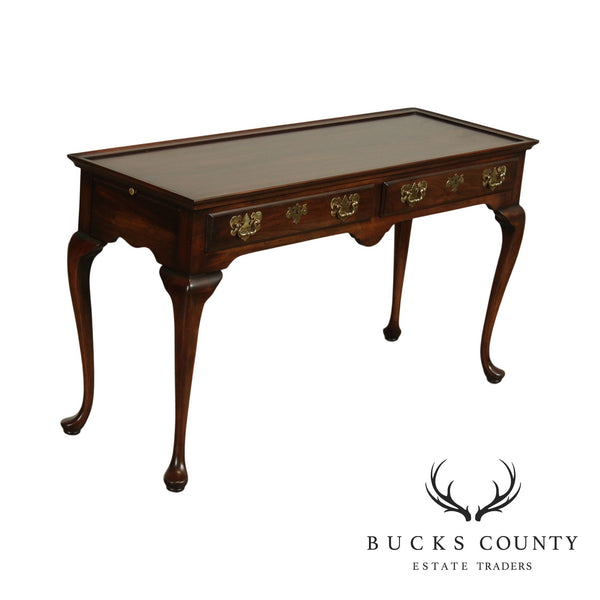 Harden Cherry Queen Anne Style 2 Drawer Sofa Table, Console