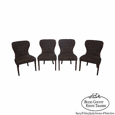 Kravet Custom Set of 4 Tufted Back Occasional Dining Chairs