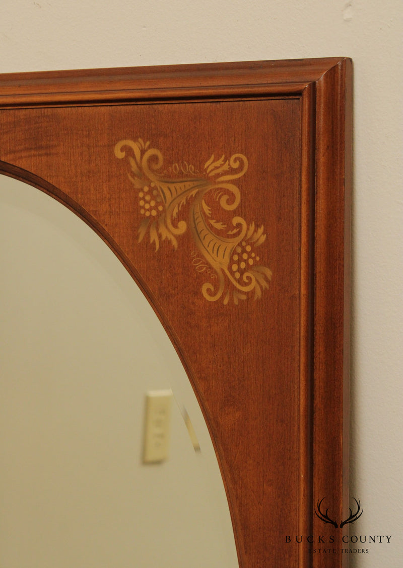 Hitchcock Vintage Maple Stenciled Wall Mirror